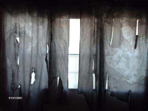 creepy curtains fabric creepy dingy curtains spooky crafts pinterest