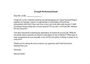 professional email template free professional email template 7 free documents
