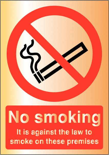 no smoking signs the law no smoking it is against the law metal look signs seton uk
