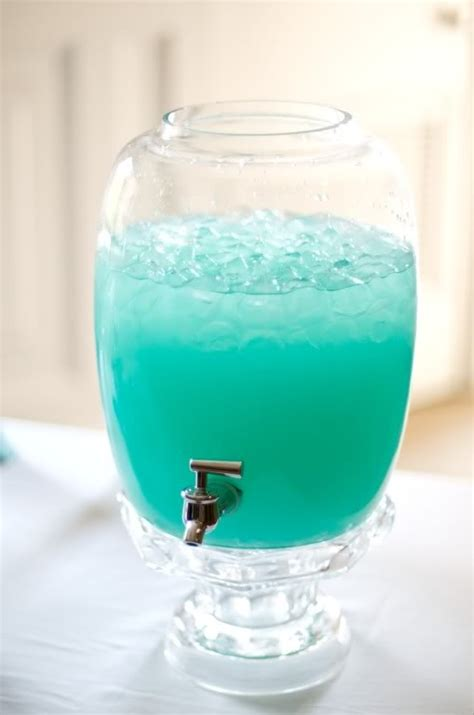 Blue Punch Recipes For Baby Shower by Moustaches Punch Recipe Blue Hawaiian Punch And Lemonade