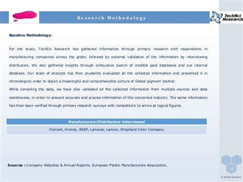 global pigments market 2011 2021 brochure
