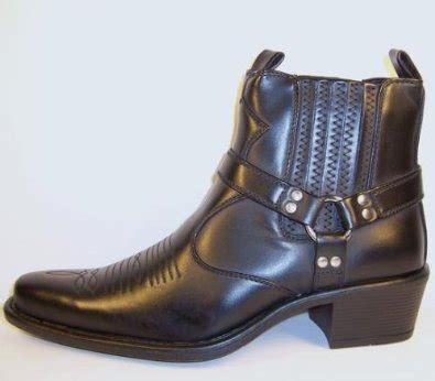 Heel Boot Coboy Black Sepatu Heels Sepatu Coboy Boot Coboy Hitam mens cowboy boots us style cuban heel harness high ankle black size 8 co uk shoes bags