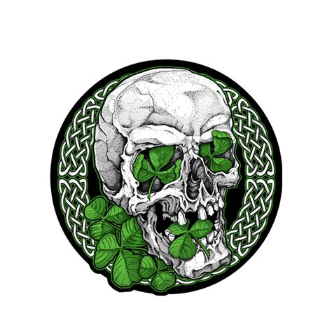 irish skull patch leather master
