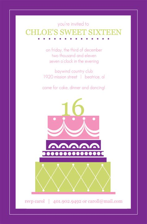 16th birthday card template sweet 16 birthday invitations templates drevio