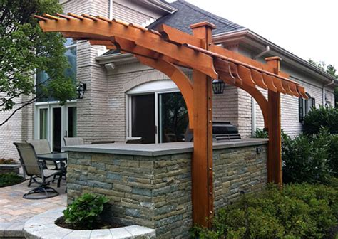 Outdoor Kitchen Pergola Ideas by Contemporary Outdoor Kitchen Pergola No Kp6 By Trellis