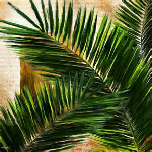 Palm Tree Duvet Tropical Leaves Digital Art By Lourry Legarde