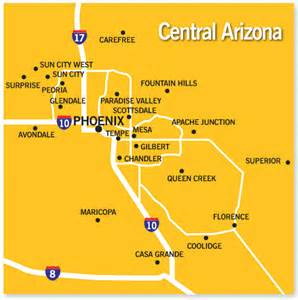 central arizona map central arizona community and school information real