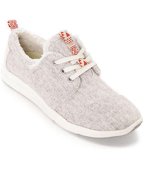 toms running shoes toms oatmeal wool shearling womens shoes zumiez