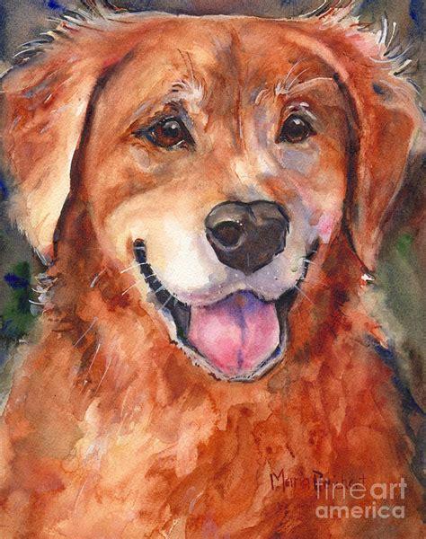 golden retriever watercolor golden retriever in watercolor painting by s watercolor
