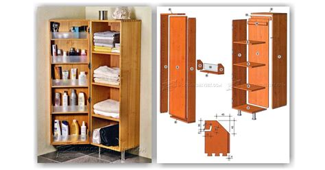 Bathroom Storage Cabinet Designs Bathroom Cabinet Plans Woodarchivist