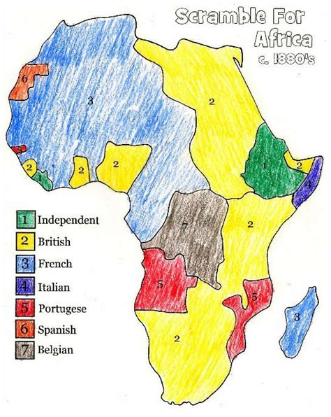learn the map of africa easily by this european colonization of africa map the scramble for