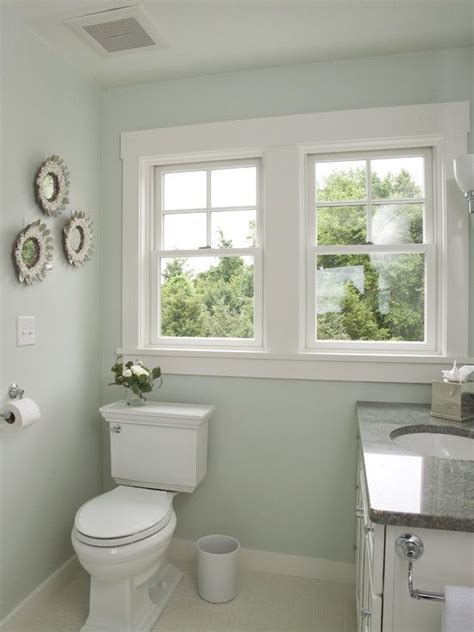 Bathroom Colors With Trim Simple Shaker Style Window Trim Wainscoting And