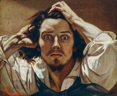 self portrait or the desperate man, by gustave courbet