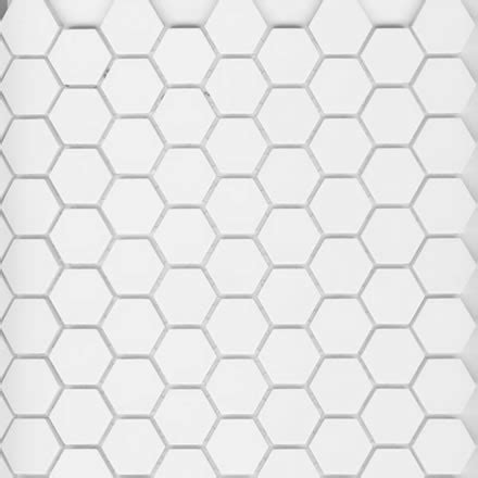 1 quot unglazed porcelain hex tile arctic white