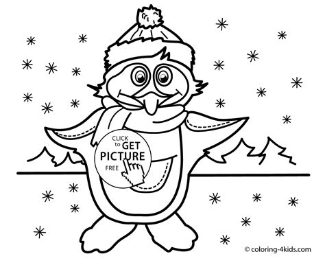 winter penguin coloring sheets