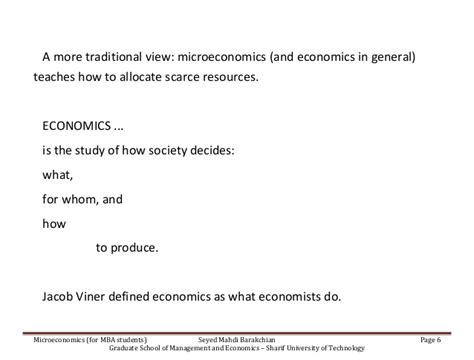Microeconomics Projects For Mba by Micro Mba 92 Slide01