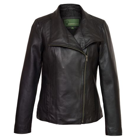 ladies leather motorcycle cayla black leather biker jacket hidepark
