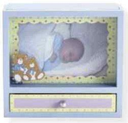 Engsel Baby Box Bfl 888 photo frame box with drawer blue