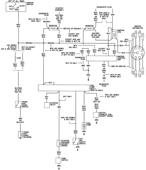 need starting system wiring diagram for 1975 sl450