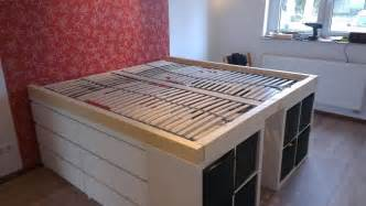 Ikea Hackers Expedit Bookcase Platform Bed By Window With Storage Design Interiors