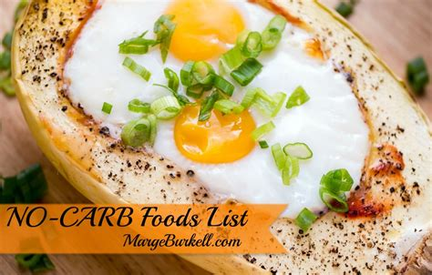 zero carbohydrates no carb foods list on low carb