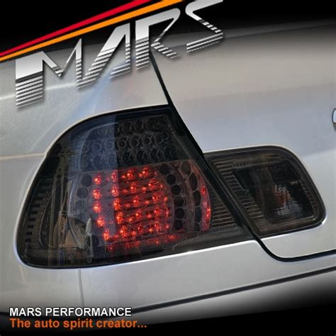 Smoked Black Led Tail Lights For Bmw 3 Series E46 2d
