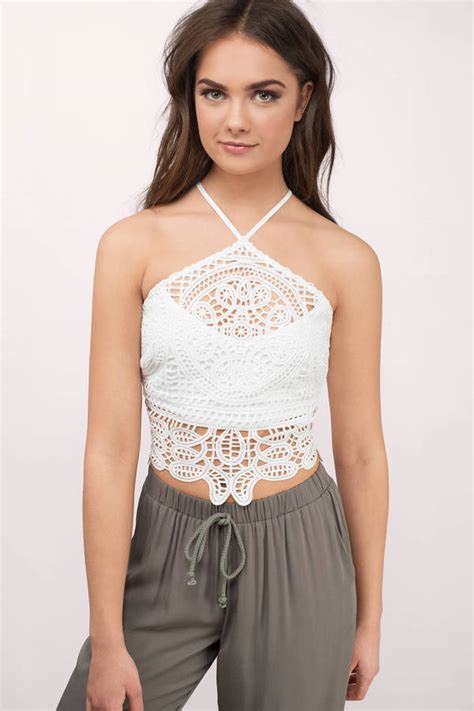 Top Lace Crop white crop top backless top white top 25 00