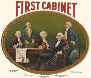 Presidential Cabinets First Cabinet Embossed Inner Vintage Cigar Label 1920 S