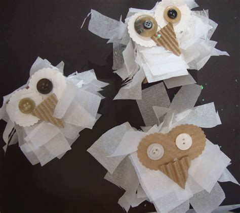 Snowy Owl Papercraft Museum - snowy owls winter craft for small big