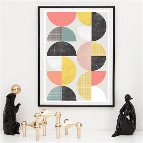abstract poster scandinavian print mid 17 best images about mid century scandinavian inspired