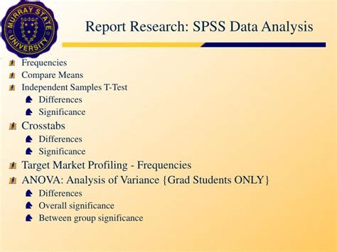 spss tutorial for data analysis ppt spss data analysis statistical procedures and