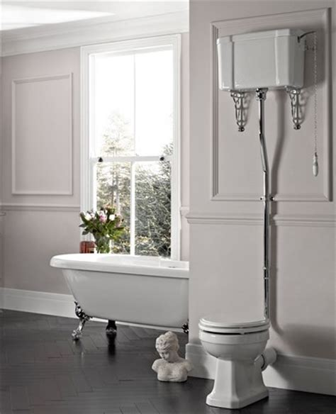 victorian wc traditional square high level toilet excl seat