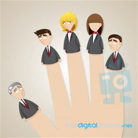 doll business finger doll business team stock image royalty