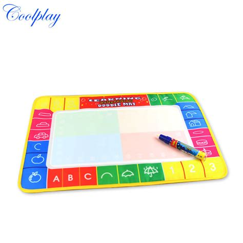 aquadoodle drawing mat magic pen free shipping cp1323 46x30cm 4 color water drawing toys
