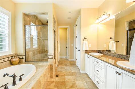 traditional master bathrooms traditional master bathroom with limestone tile floors