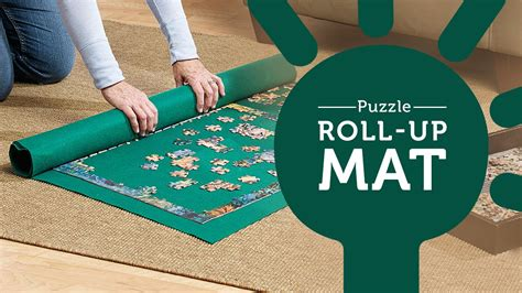 Roll Up Puzzle Mat by Puzzle Roll Up Mat Keeps Pieces In Place