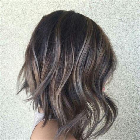 dark hair base with platinum highlights short dark brown hair with platinum highlights hair