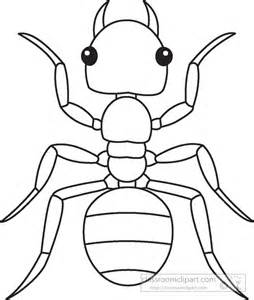 Animals Ant Insects Black White Outline 919 Classroom Clipart sketch template