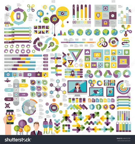 shutterstock design elements and layout vectors info graphics set design elements stock vector