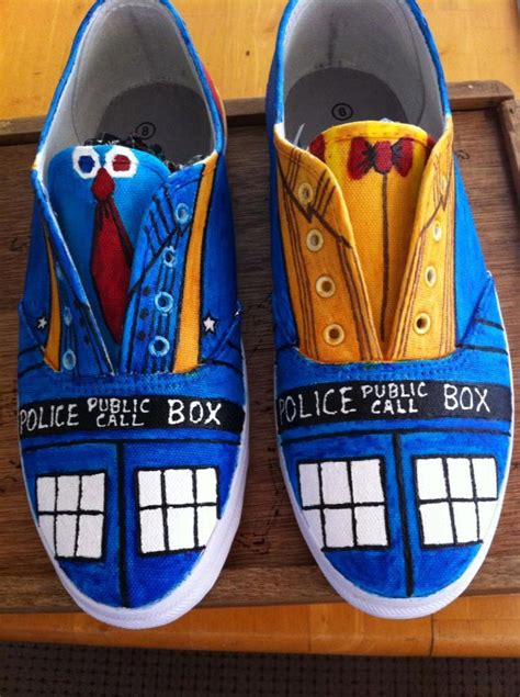 dr who sneakers fanboy fashion tag archive painted
