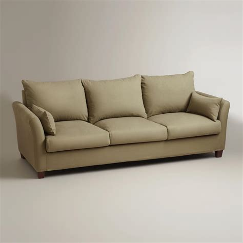 Sage Luxe 3 Seat Sofa Slipcover World Market 3 Seat Sofa Slipcovers