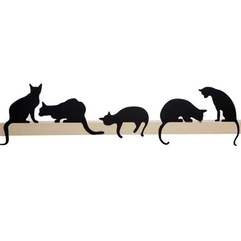 Unique Desk Clocks by Cat S Meow Oscar Decorative Cat Silhouette By Artori