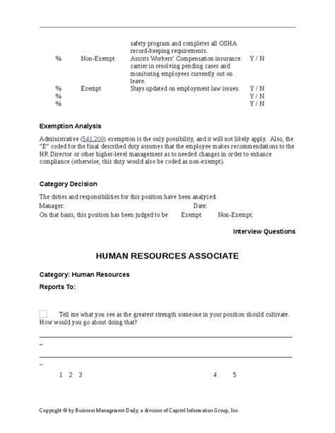 human resources associate job description hashdoc
