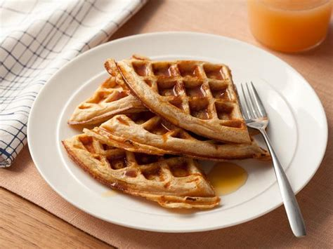 whole grain yeast waffles whole grain waffles recipe food network kitchen food