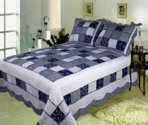 Handmade King Size Quilts - buy delft blue handmade quilt with refreshing appeal king