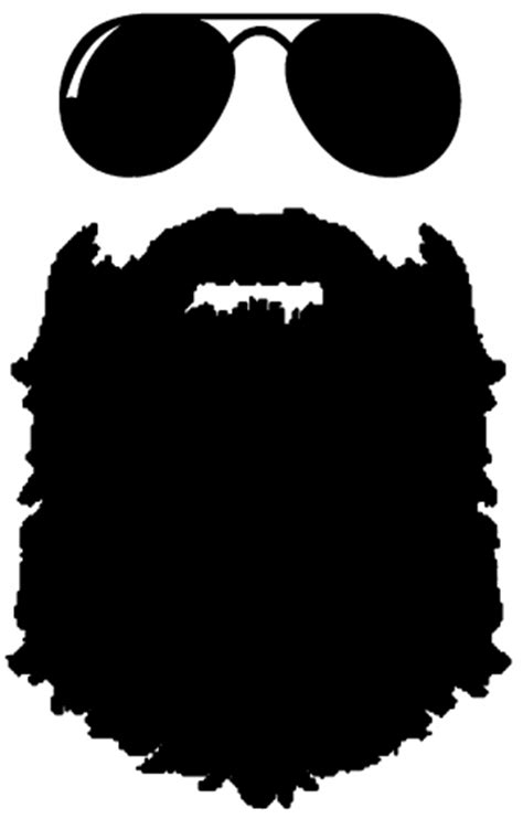 Decals Stickers For Walls rugged beard with sunglasses car or truck window decal