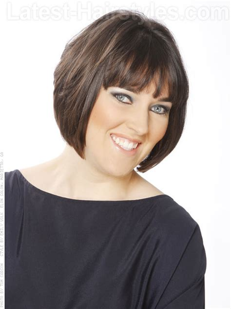 short layered bob sides feathered back stacked bob hairstyles back view stacked feathered bob