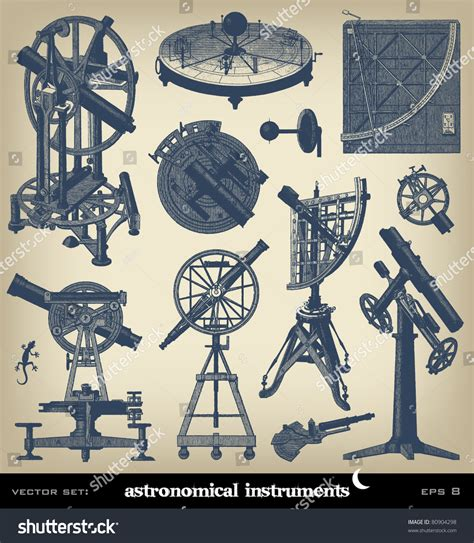 the complete illustrations engraving astronomical instrument set from quot the complete