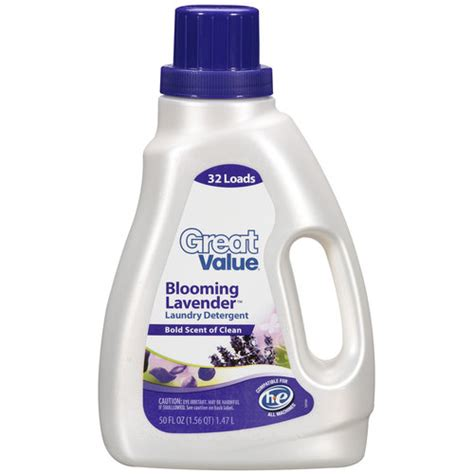 laundry walmart great value blooming lavender laundry detergent 50 oz walmart