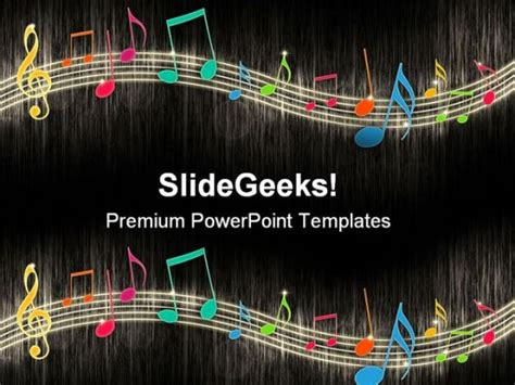 free music powerpoint templates music notes background